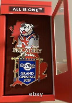 Hard Rock Cafe LONDON PICCADILLY CIRCUS 2019 GRAND OPENING Jumbo PIN Phone Box