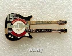 Hard Rock Cafe La Jolla 2003 15th Anniversary Guitar Staff Pin Le 20 #20843