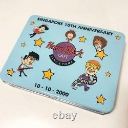 Hard Rock Cafe Legend Pin Badge Set SINGAPORE 10TH Anniversary Rare