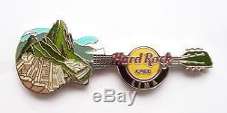Hard Rock Cafe Lima 2012 Machu Picchu Horizontal Guitar Pin