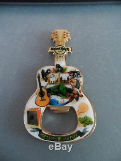 Hard Rock Cafe Lima V17 Guitar & Logo HRC Fridge Magnet Bottle Opener