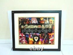 Hard Rock Cafe London 30 Year Anniversary Timeline Series Framed 11 Pin Set