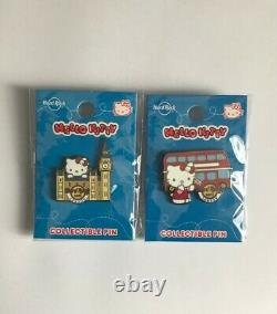 Hard Rock Cafe London Hello Kitty Special Edition 2020 Collectable Pin Set NEW