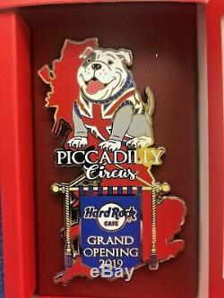 Hard Rock Cafe London Piccadilly Grand Opening Large Bull Dog Pin Badge L/e300