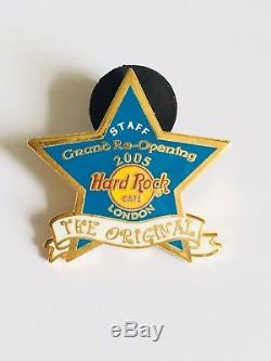 Hard Rock Cafe London STAFF 2005 Grand Re-opening Blue Star pin