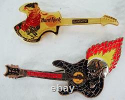 Hard Rock Cafe Lot of 21 INTERNATIONAL Mixed Locations GUITAR Pins Collection