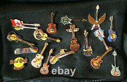 Hard Rock Cafe Lot of 49 Variety Locations GUITAR Pins Collection