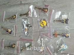 Hard Rock Cafe Lot of 50+ Variety US & International Locations Pin Collection