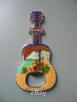 Hard Rock Cafe MARGARITA City Tee Design Guitar & Logo Magnet Bottle Opener