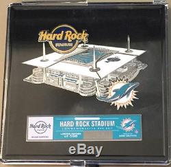 Hard Rock Cafe MIAMI STADIUM 2016 STADIUM Puzzle 7 PIN Set in Box # of 500 NEW