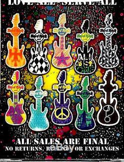 Hard Rock Cafe MYSTERY Pin Set of 10 GRAFFITI Edition