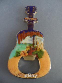 Hard Rock Cafe Margarita Beach Guitar with HRC Logo Magnet Bottle Opener HTF