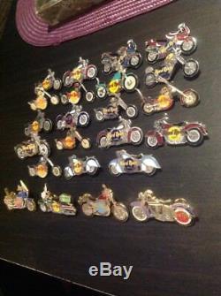 Hard Rock Cafe Motorcycles Pins/Buttons Las Vegas Stockholm Nashville Lot 23
