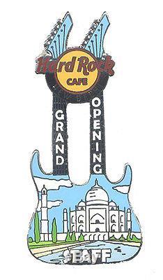 Hard Rock Cafe NEW DELHI Grand Opening STAFF MANAGER Taj Mahal Guitar pin