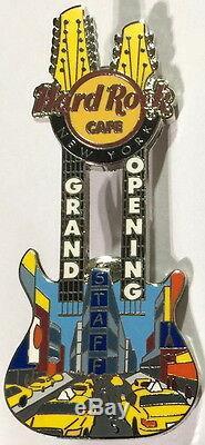 Hard Rock Cafe NEW YORK 2005 GRAND OPENING STAFF Guitar GO OS PIN HRC #29391