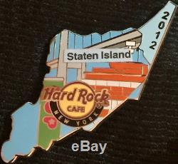 Hard Rock Cafe NEW YORK 2012 ROCK MAP Puzzle Series 5 Boroughs PIN Set #64886