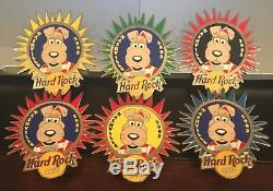Hard Rock Cafe Nashville 2003 Champ The Dog 6 Pin Prototype Set Only 5 Made