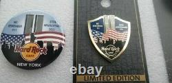 Hard Rock Cafe New York 2021 9/11 20th Anniversary Pin And Button (new)