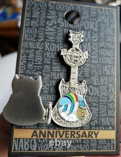 Hard Rock Cafe Niagara Falls 25th Anniversary STAFF hinged guitar Pin 2021 LE100