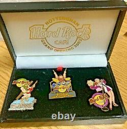 Hard Rock Cafe Nottingham Grand Opening 3 Pin Boxed Set