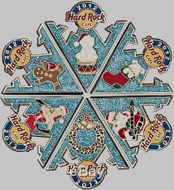 Hard Rock Cafe ONLINE 2012 Christmas Snowflake 6 PIN Puzzle Set! LTD. P3