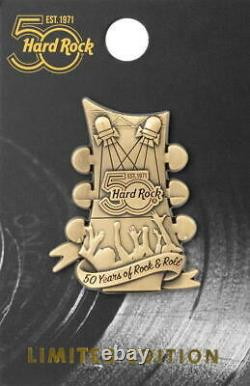 Hard Rock Cafe ONLINE 2021 HRC 50 Years 3-D Guitar Puzzle PIN 50th Anniversary