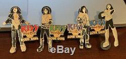 Hard Rock Cafe Online Kiss Band Love Gun Album 4 Pin Set Ace Gene Paul Peter