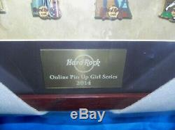 Hard Rock Cafe Online Pin Up Sexy Girl Series Frame Pin Set 2014 Rare Le 10