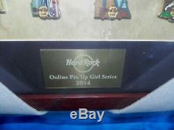 Hard Rock Cafe Online Pin Up Sexy Girl Series Frame Pin Set 2014 Rare Le 10