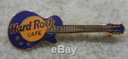 Hard Rock Cafe Opaque Blue Horizontal No Name Les Paul Guitar Pin 1 Line