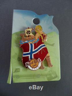 Hard Rock Cafe Oslo 2015 Flag & Landmark Hrc Girl Series Pin Le 150