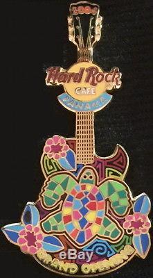 Hard Rock Cafe PANAMA 2004 GRAND OPENING GO PIN Turtle & Flower Guitar HR #24885