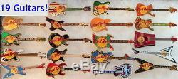 Hard Rock Cafe PUERTO VALLARTA 1990s Guitars 19 PIN LOT Collection Set RARE MINT