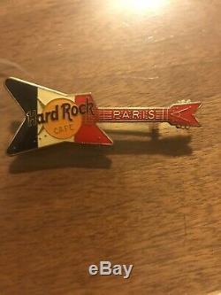 Hard Rock Cafe Paris Blue Geo Guitar Pin