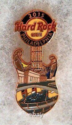 Hard Rock Cafe Philadelphia City Landmark Guitars 3 Pin Puzzle Prototype Set