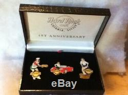 Hard Rock Cafe Pin Catania Sicity 1st Anniversary Box Set