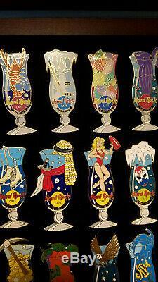 Hard Rock Cafe Pin HURRICANE GLASS SERIES LOT x38 2002-03 DUBAI Guangzhou Rares