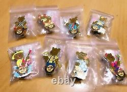 Hard Rock Cafe Pin Japan Spring Bear Series All Set 8 pins