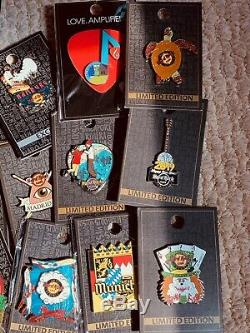 Hard Rock Cafe Pin Lot Of 20+. All In Original Packages. Pin Collection New