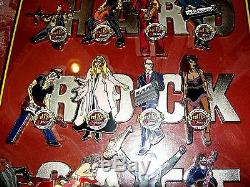 Hard Rock Cafe Pins Ft. Laud 30th Anniversary Musician Series Set Of 12 Framed