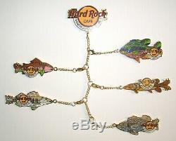Hard Rock Cafe Pins MINNEAPOLIS Dangler Fish Series set of 6 from 2005