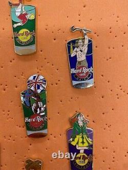 Hard Rock Cafe Pint Shot Glass Pin Lot Of 10. Catania Cairo Belfast Rome Berlin