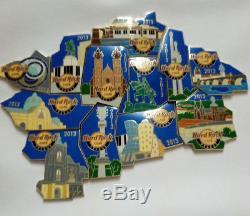 Hard Rock Cafe Prague Puzzle complete 12 pins #69673