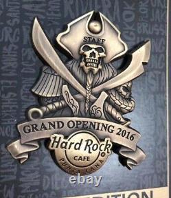 Hard Rock Cafe Punta Cana Airport Rockshop Grand Opening Staff Pin LE100 PIRATE