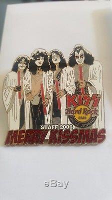 Hard Rock Cafe RIO DE JANEIRO Xmas KISS Paul Gene STAFF pin VERY RARE