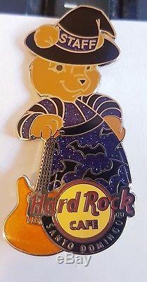 Hard Rock Cafe SANTO DOMINGO Halloween Bear STAFF pin LE 75