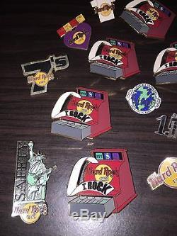 Hard Rock Cafe Staff Pin Lot Of 17 Staff Pins Random