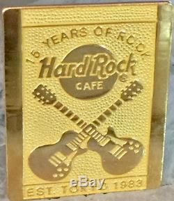 Hard Rock Cafe TOKYO 1998 15th Anniversary Gold STAFF PIN Rare LE 100 HRC #10181