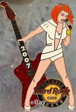 Hard Rock Cafe TOKYO 2007 ROCK GIRL Series SEXY Babes with GUITARS 6 PIN SET