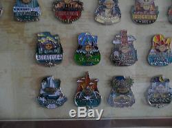 Hard Rock Cafe USA City Icon Series Frame Pin Set 51 Pins & 3 Prototype Le20
